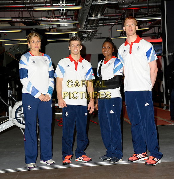 LONDON, ENGLAND - SEP 01: Gemma Gibbons, Max Whitlock, Nicola Adams, Ed Clancy attends a photocall with Fitness First who partners with Team GB to launch the new Team GB Pro Athlete Fitness Programme on September 1st, 2014 in London, England.<br /> CAP/CJ<br /> &copy;Chris Joseph/Capital Pictures