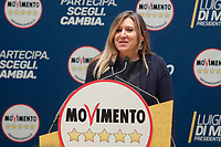 Daniela Tisi<br /> Roma 29/01/2018. Presentazione dei candidati nelle liste uninominali del Movimento 5 Stelle.<br /> Rome January 29th 2018. Presentation of the candidates for Movement 5 Stars.<br /> Foto Samantha Zucchi Insidefoto