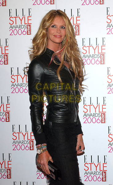 ELLE MacPHERSON.The Elle Style Awards 2006, Atlantis Gallery, Old Truman Brewery, Brick Lane, London, UK..February 20th, 2006 .Ref: BEL.half length black leather jacket pink highlight hair streak.www.capitalpictures.com.sales@capitalpictures.com.© Capital Pictures.
