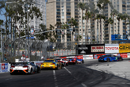 2017 IMSA WeatherTech SportsCar Championship<br /> BUBBA burger Sports Car Grand Prix at Long Beach<br /> Streets of Long Beach, CA USA<br /> Saturday 8 April 2017<br /> 86, Acura, Acura NSX, GTD, Oswaldo Negri Jr., Jeff Segal, 96, BMW, BMW M6 GT3, GTD, Bret Curtis, Jens Klingmann, 911, Porsche, Porsche 911 RSR, GTLM, Patrick Pilet, Dirk Werner, 66, Ford, Ford GT, GTLM, Joey Hand, Dirk Muller, 15, Lexus, Lexus RCF GT3, GTD, Robert Alon, Jack Hawksworth<br /> World Copyright: Michael L. Levitt<br /> LAT Images
