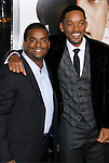 """WESTWOOD, CA. - December 16: Actors Alfonso Ribeiro and Will Smith arrive at the Los Angeles premiere of """"Seven Pounds"""" at Mann's Village Theater on December 16, 2008 in Los Angeles, California."""