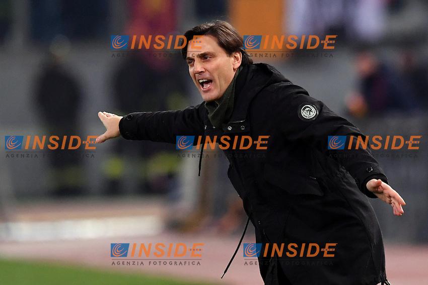 Vincenzo Montella, Milan's coach.<br /> Roma 12-12-2016  Stadio Olimpico<br /> Campionato Serie A, Derby<br /> AS Roma - Milan <br /> Foto Antonietta Baldassarre / Insidefoto