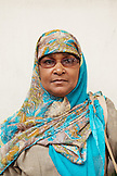 MAURITIUS; street portrait of a Muslim Woman in Port Louis