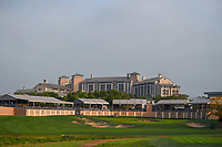 A long shot of the green on 16 with the TPC Marriott hotel in the background during day 1 of the Valero Texas Open, at the TPC San Antonio Oaks Course, San Antonio, Texas, USA. 4/4/2019.<br /> Picture: Golffile | Ken Murray<br /> <br /> <br /> All photo usage must carry mandatory copyright credit (© Golffile | Ken Murray)