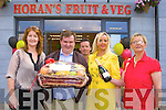 Total Produce makes a presentation to Dan Horan at the official opening of Horan's Health store in Killarney on Friday l-r: Back row: Fiona Daly (Total Produce), Dan Horan, Sandra Horan and Sharon Cotter (Total Produce)