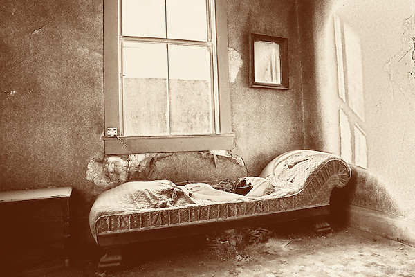 Abandoned couch in Bodie California