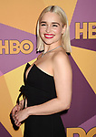 BEVERLY HILLS, CA - JANUARY 07: Actress Emilia Clarke arrives at HBO's Official Golden Globe Awards After Party at Circa 55 Restaurant in the Beverly Hilton Hotel on January 7, 2018 in Los Angeles, California.