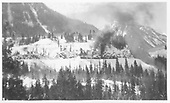 RGS rotary with 2 locomotives and 2 cabooses working snow.<br /> RGS  Ophir Loop, CO