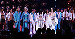 Matthew Hydzik, Emily Skinner, Jarrod Spector, Micaela Diamond, Stephanie J. Block, Teal Wicks, Michael Berresse and Michael Campayno with cast during the Broadway Opening Night Curtain Call of 'The Cher Show'  at Neil Simon Theatre on December 3, 2018 in New York City.