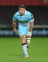 Glasgow Warriors' Callum Gibbins<br /> <br /> Photographer Kevin Barnes/CameraSport<br /> <br /> Guinness Pro14 Round 8 - Ospreys v Glasgow Warriors - Friday 2nd November 2018 - Liberty Stadium - Swansea<br /> <br /> World Copyright &copy; 2018 CameraSport. All rights reserved. 43 Linden Ave. Countesthorpe. Leicester. England. LE8 5PG - Tel: +44 (0) 116 277 4147 - admin@camerasport.com - www.camerasport.com