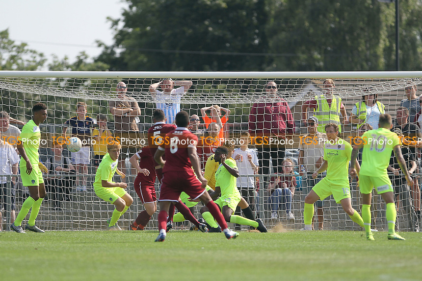 Luke Daley of Chelmsford scores during Chelmsford City vs Colchester United, Friendly Match Football at Melbourne Park on 23rd July 2016
