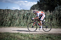 Antoine Benoist (FRA/Corendon Circus) on a off-road sector<br /> <br /> Antwerp Port Epic 2019 <br /> One Day Race: Antwerp > Antwerp 187km<br /> <br /> ©kramon