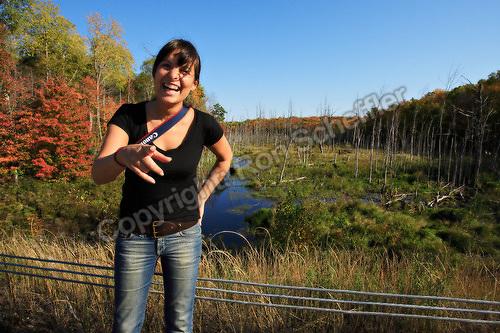 October 2, 2006; Bala, Ontario, Canada; Alessia Cerra and Muskoka scenery. Photo &copy; Ron Scheffler.<br />