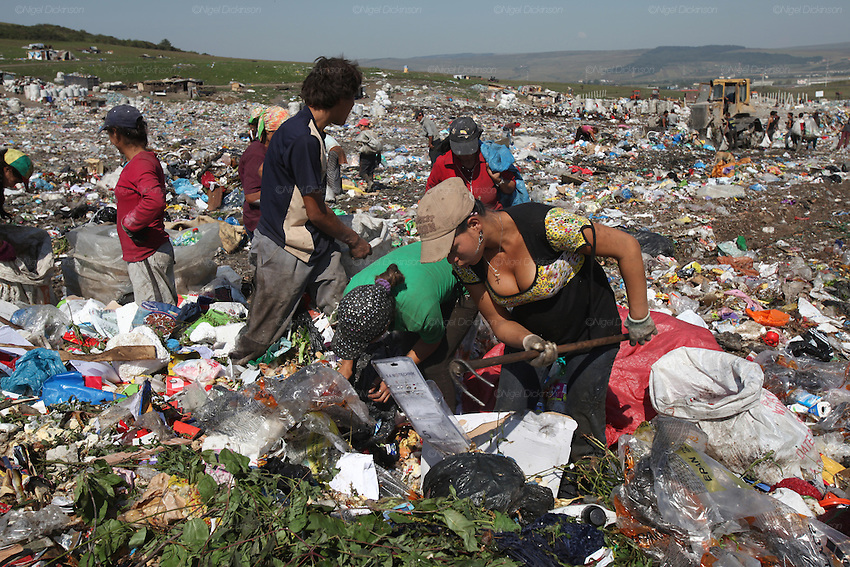 Roma gypsies romania nigel dickinson roma gypsies working in the cluj municipal rubbish dump recycling rubbish for a living publicscrutiny Image collections