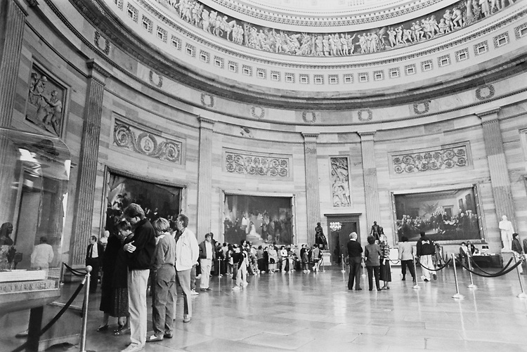 The Rotunda in the Capitol on April 4, 1991. (Photo by Anthony Marill/CQ Roll Call via Getty Images)