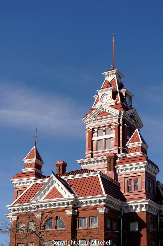 Old City hall building 1892, part of the Whatcom County Museum, Bellingham, Washington state, USA