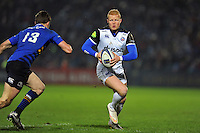 Tom Homer of Bath Rugby in possession. European Rugby Champions Cup match, between Leinster Rugby and Bath Rugby on January 16, 2016 at the RDS Arena in Dublin, Republic of Ireland. Photo by: Patrick Khachfe / Onside Images