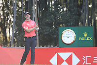 Paul Waring (ENG) on the 17th tee during the final round of the WGC HSBC Champions, Sheshan Golf Club, Shanghai, China. 03/11/2019.<br /> Picture Fran Caffrey / Golffile.ie<br /> <br /> All photo usage must carry mandatory copyright credit (© Golffile | Fran Caffrey)