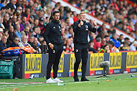 AFC Bournemouth Manager Eddie Howe (r) goes instructions during AFC Bournemouth vs Sheffield United, Premier League Football at the Vitality Stadium on 10th August 2019
