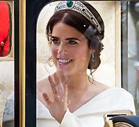 OCT 12 Princess Eugenie's royal wedding to Jack Brooksbank