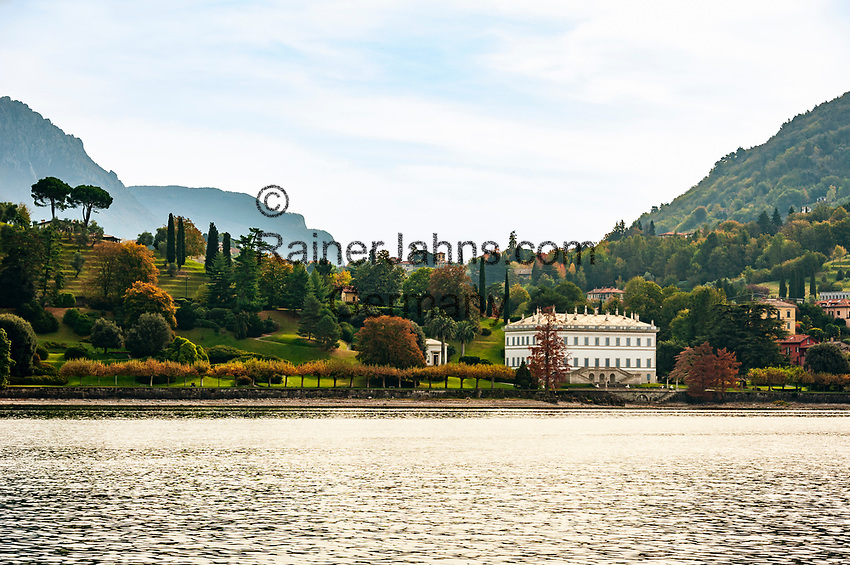 Italy, Lombardia, Bellagio: villa Melzi with park | Italien, Lombardei, Bellagio: die Villa Melzi mit Park direkt am Comer See