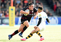 Jamie George of Saracens in possession. Aviva Premiership match, between Saracens and Wasps on October 8, 2017 at Allianz Park in London, England. Photo by: Patrick Khachfe / JMP