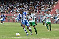 SÃO PAULO, SP, 06 DE JANEIRO DE 2013 - COPA SÃO PAULO DE FUTEBOL JUNIOR - NACIONAL (SP) x TOCANTINÓPOLIS: Lance da partida Nacional (SP) x Tocantinópolis, válida pela primeira fase Grupo Z da Copa São Paulo de Futebol Junior, disputado no estádio Comendador Souza em São Paulo. FOTO: LEVI BIANCO - BRAZIL PHOTO PRESS