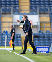 11th July 2020; Ewood Park, Blackburn, Lancashire, England; English Football League Championship Football, Blackburn Rovers versus West Bromwich Albion; West Brom manager Slaven Bilić indicates to his players to push forward