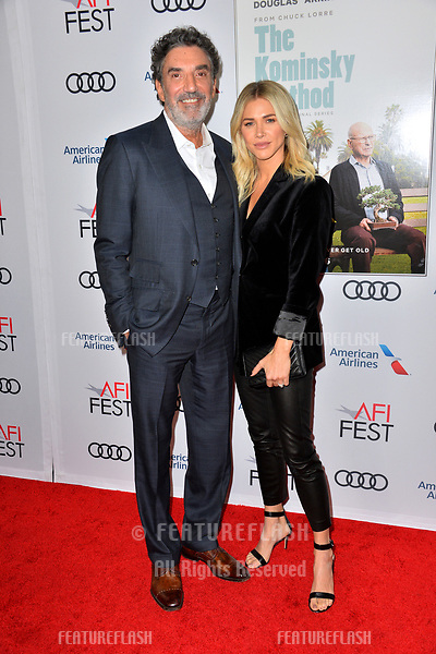 "LOS ANGELES, CA. November 10, 2018: Chuck Lorre & Arielle Mandelson at the AFI Fest 2018 world premiere of ""The Kominsky Method"" at the TCL Chinese Theatre.<br /> Picture: Paul Smith/FeatureflashLOS ANGELES, CA. November 10, 2018: Chuck Lorre & Guest at the AFI Fest 2018 world premiere of ""The Kominsky Method"" at the TCL Chinese Theatre.<br /> Picture: Paul Smith/Featureflash"