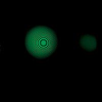 DUAL MODE  INTERFEROMETER<br /> Fabry-Perot Fringe Pattern-546nm Green Light