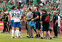Mexico City, Mexico - Sunday June 11, 2017: Bruce Arena and USMNT during a 2018 FIFA World Cup Qualifying Final Round match with both men's national teams of the United States (USA) and Mexico (MEX) playing to a 1-1 draw at Azteca Stadium.