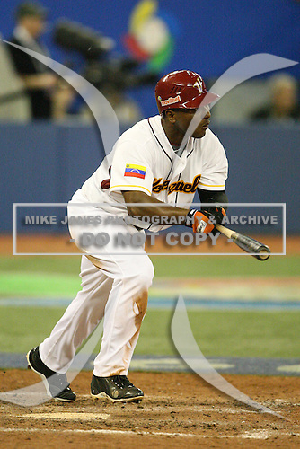 March 7, 2009:  Melvin Mora (6) of Venezuela during the first round of the World Baseball Classic at the Rogers Centre in Toronto, Ontario, Canada.  Venezuela defeated Italy 7-0 in both teams opening game of the tournament.  Photo by:  Mike Janes/Four Seam Images