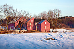 Late winter on a farm in Hollis, NH, USA