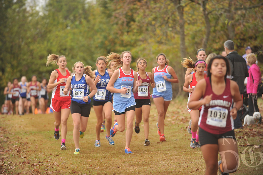 NWA Democrat-Gazette/MICHAEL WOODS &bull; @NWAMICHAELW<br /> The Rogers Mountie Classic 7A West Conference Championship cross country meet in Rogers, Tuesday October 27, 2015.