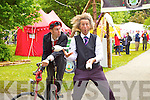 Entertaining the crowds at Feile na Bláth at Tralee Town Park on Saturday were Monsieur Gusto and Ronaldo Fanzini,