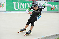 INLINE-SKATEN: HEERDE: Skeeler- en Skatecentrum Hoornscheveen, Europa Cup/Univé Skate Off, 05-05-2012, Manon Kamminga (#13), ©foto Martin de Jong