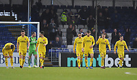Fleetwood Town players look dejected after Bristol Rovers' first goal<br /> <br /> Photographer Kevin Barnes/CameraSport<br /> <br /> The EFL Sky Bet League One - Bristol Rovers v Fleetwood Town - Saturday 22nd December 2018 - Memorial Stadium - Bristol<br /> <br /> World Copyright &copy; 2018 CameraSport. All rights reserved. 43 Linden Ave. Countesthorpe. Leicester. England. LE8 5PG - Tel: +44 (0) 116 277 4147 - admin@camerasport.com - www.camerasport.com
