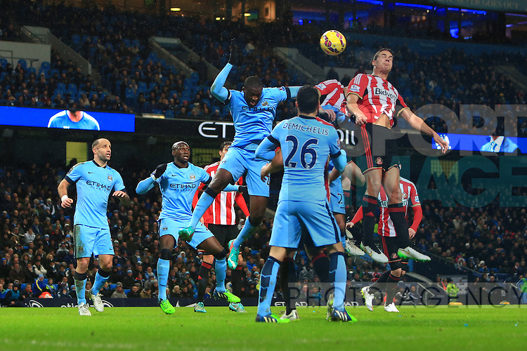 Jack Rodwell of Sunderland scores a quick come back goal - Manchester City vs. Sunderland - Barclay's Premier League - Etihad Stadium - Manchester - 28/12/2014 Pic Philip Oldham/Sportimage