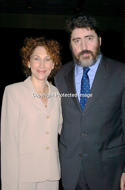 Randy Graff and Alfred Molina ..at the 70th Annual Drama League Luncheon on May 14, 2004 at the Grand Hyatt in New York City...Photo by Robin Platzer, Twin Images