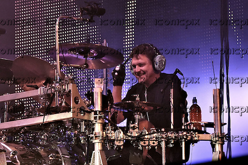 Def Leppard - drummer Rick Allen performing live as the headline act on the Main Stage on Day 1 of the 2011 Download Festival at Donington Park UK - 10 Jun 2011.  Photo credit: George Chin/IconicPix