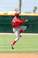 Cristobal Rodriguez, Cincinnati Reds 2010 minor league spring training..Photo by:  Bill Mitchell/Four Seam Images.