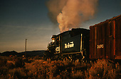 D&amp;RGW #473 with freight passing the camera in twilight.<br /> D&amp;RGW