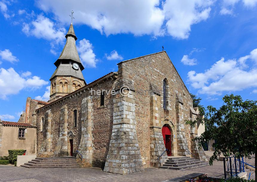 France, Allier (03), Néris-les-Bains, l'église Saint-Georges // France, Allier, Neris les Bains, Saint Georges church