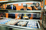 Superintendent Richard Carranza gets his first HISD meal at Carnegie Vanguard High School.