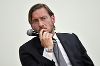 AS Roma legend former player Francesco Totti attends a press conference to announce his resignation as manager of the team .<br /> Roma 17-6-2019 CONI <br /> Photo Andrea Staccioli / Insidefoto