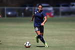 CARY, NC - APRIL 01: Courage's Debinha (BRA). The NWSL's North Carolina Courage played a preseason game against the Wake Forest Demon Deacons on April 1, 2017, at WakeMed Soccer Park Field 3 in Cary, NC. The Courage won the match 3-0.