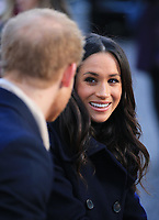 01 December 2017 - Prince Harry and Meghan Markle. Terrence Higgins Trust World AIDS Day Charity Fair at Nottingham Contemporary in Nottingham, Nottinghamshire. Photo Credit: Stephen Daniels/ALPR/AdMedia