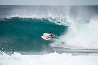 BANZAI PIPELINE, Oahu/Hawaii (Sunday, December 18, 2016) Filipe Toledo (BRA) - The Billabong Pipe Masters in Memory of Andy Irons, the final stop on the 2016  World Championship Tour (CT) was called on this morning in classy 4'-5' foot North - North East swell. The swell direction favoured Backdoor more than Pipeline with most of the waves ridden Backdoor.<br /> <br /> It was a day of upsets with one of the favourites and world #2 Gabriel Medina losing in Round 3 while tour veteran Kai Otten not only lost in the same round but failed to requalify and dropped off the WCT tour. <br /> Photo: joliphotos