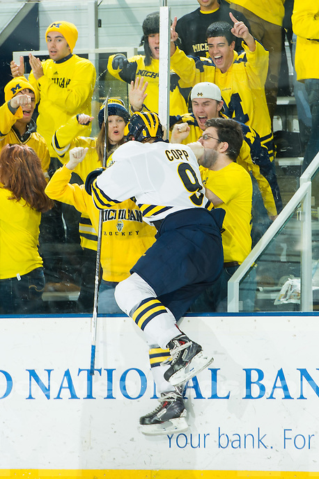 The University of Michigan ice hockey team,8-1 victory over Penn State University at Yost Ice Arena in Ann Arbor on Nov. 22, 2014.