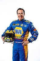 Feb 7, 2018; Pomona, CA, USA; NHRA funny car driver Ron Capps poses for a portrait during media day at Auto Club Raceway at Pomona. Mandatory Credit: Mark J. Rebilas-USA TODAY Sports